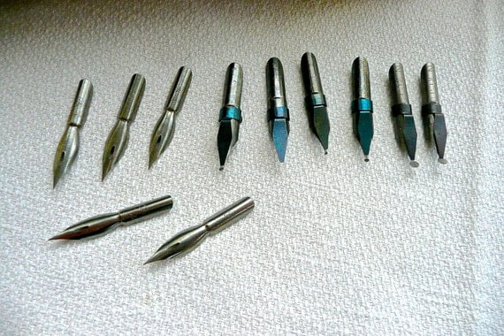 Vintage Calligraphy Nibs Quantity Of Pen Tips German Made