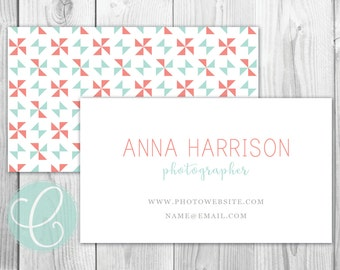Business Cards / Calling Cards - Printable or Printed - Pinwheel
