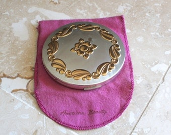 Elgin American compact - American Beauty powder compact - vintage purse compact - vintage powder case - purse mirror