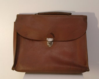 Vintage 50 Brown Leather Briefcase