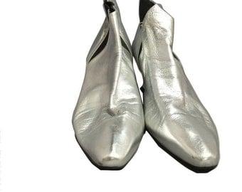 Designer Goodies by Errol Metallic Booties Size 8.5