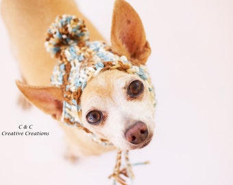 Icy Pond Dog Hat - READY TO SHIP - Pet Hat - Cat Hat - Dog Beanie - Photo Prop - Hand Crochet
