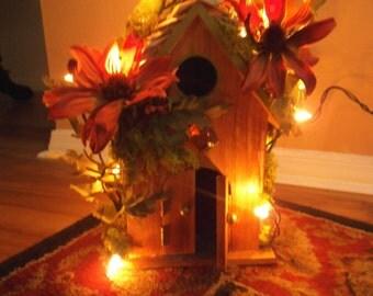 Enchanting ...Autumn Fairy House ...Lights.......OOAK