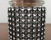 Small or medium super sparkle stash jar/spice storage/decorative jar