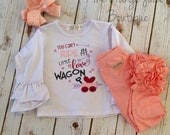 Little Love Wagon ruffle shirt- girl's valentine's-M2M Sew Sassy