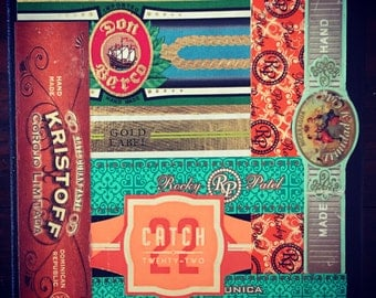 Cigar Band Collage Coaster: Catch 22