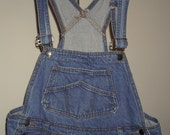 FINE Women's denim overalls Made in USA size XL