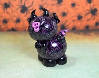 Lil' Devil Mikie polymer clay Piglet