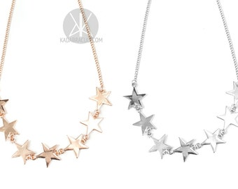 Starchild Necklace - Star Necklace, celestial, stars, witchy, gothic, dark, moon, bohemian, nugoth, occult, layer necklace, Kadabra Cult