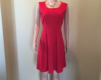 Red Hot Knit Career Dress