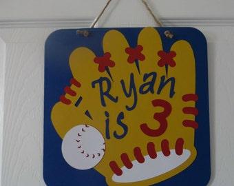 Baseball Party Sign - Boy's Baseball Birthday Sign
