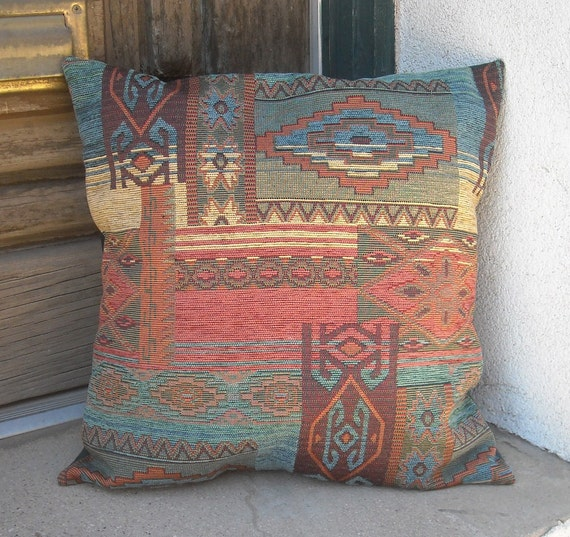 Southwestern pillow cover. From 18 x 18 to 24 x 24. Luxurious