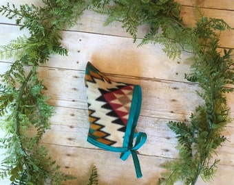Baby/Toddler Pixie Hat // Elf Hat // Tribal Fleece Winter Hat // Pixie Hood // Pixie Baby Bonnet // Pointed Bonnet