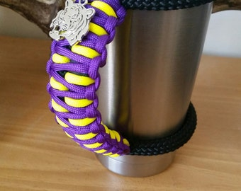 RTIC/YETI Tumbler Handle in LSU colors with Tiger Charm