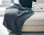 Knitting PATTERN- The Hadlow Blanket- Blanket Knit Pattern PDF
