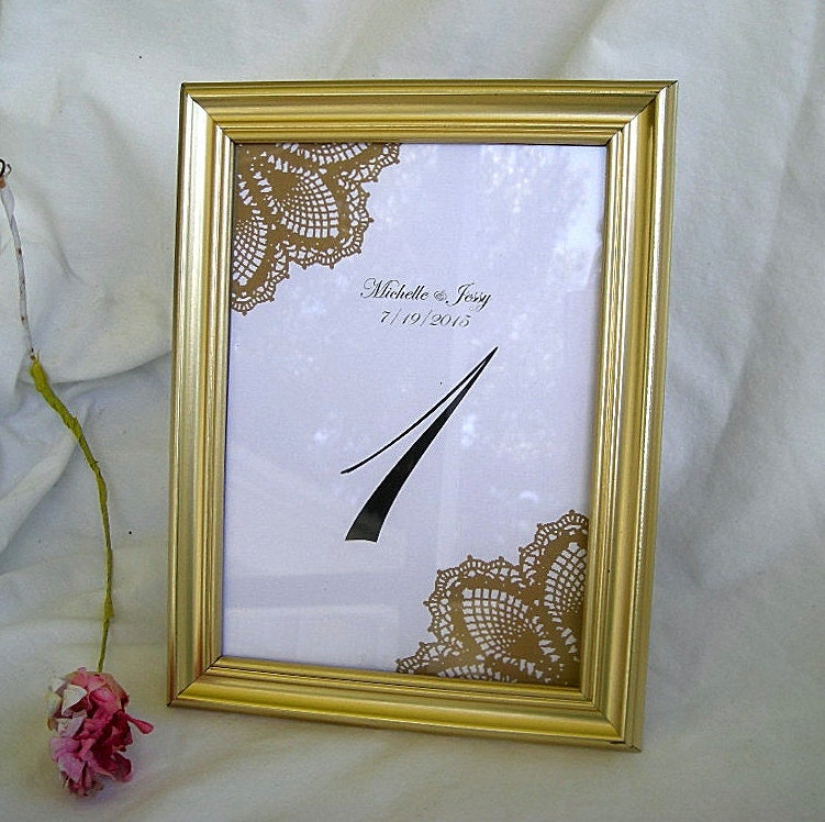 Gold Table Card Frame Frames Wedding Table Number Cards Silver or ...