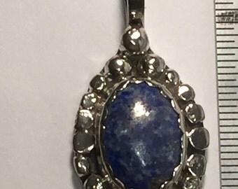 Lapis Lazuli  set in Sterling Silver Pendant