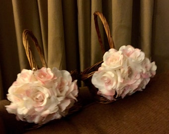 Two Flower Girl Baskets