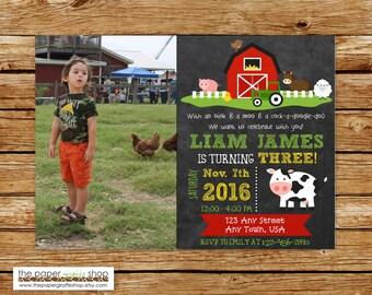 Farm Birthday Invitation | Farm Birthday Party | Farm Party | Birthday Invitation for Boys | Farm Birthday Invites | Barn Invitation