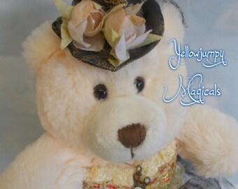 "Metempsychosis Steampunk teddy bear ""Miss Bearvly Bear-Lynew"""