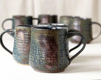 Ready to Ship - The Coffee Cup- Mug- tea cup for those who love tea - cup with handle - Ash Like Glaze