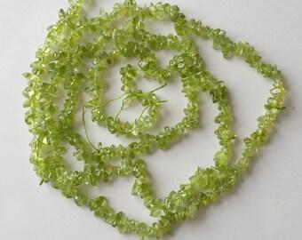 """30"""" of peridot chip beads"""