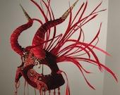 Masquerade Ball Mask Red// Demoness Masquerade Mask//masquerade mask red//halloween masquerade mask//mardi gras masquerade mask//masquerade