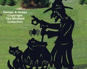 Black witch with out cauldron and cat