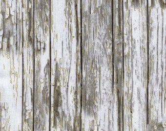 Timeless Treasures-Country Christmas Metallic Weathered Wood CM3291 in Grey