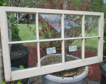 36 x 20 Rare Size Vintage Window sash old  8 pane  from 1941