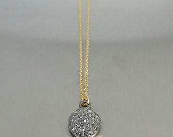Champagne Diamond Disc Pendant