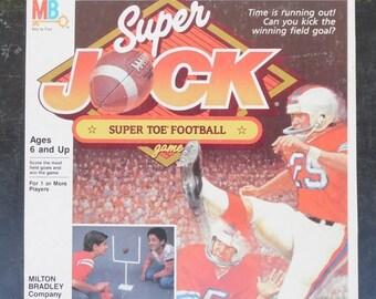 ON SALE Vintage 1986 Super Jock Super Toe Football Game by MILTON Bradley