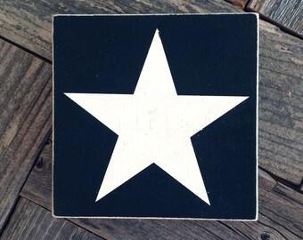 White Star Mini Sign
