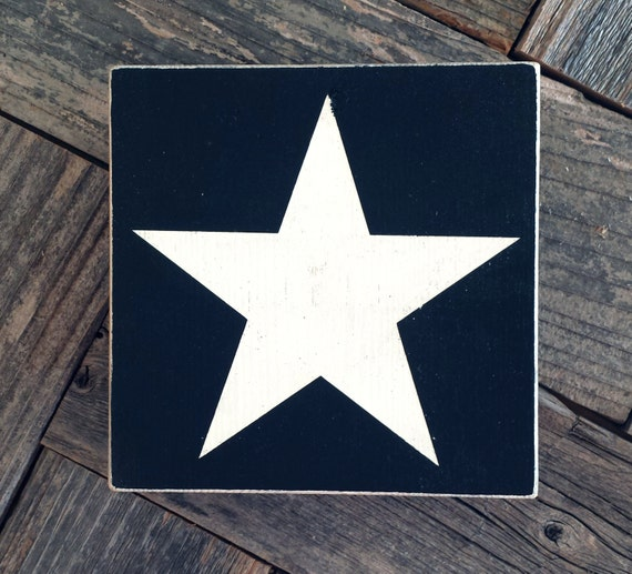 White Star Mini Sign