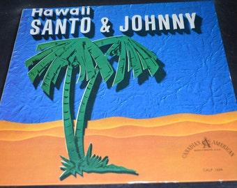 Vintage Record Santo & Johnny: Hawaii Album CALP-1004