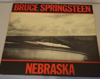 Vintage Record Bruce Springsteen: Nebraska Album TC-38358
