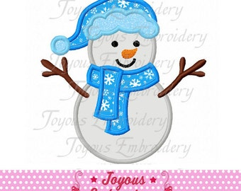 Instant Download Snowman Embroidery Applique Design NO:1880