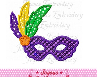 Instant Download Mardi Gras Mask Applique Embroidery Design NO:1935