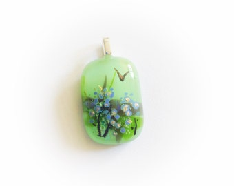 Memorial Fused Glass Pendant