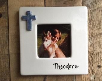 Custom Ceramic Frame with Cross