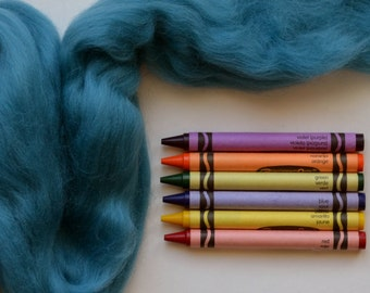 MERINO WOOL ROVING / Faded Teal 1 ounce / merino wool top for felting, dreadlocks, weaving, infant photography, photography props, doll hair