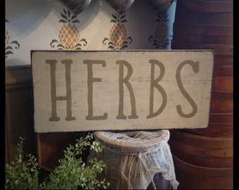 Hand Stenciled primitive theme sign for Spring
