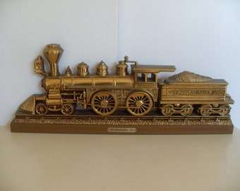 "Vintage Burwood Train""THE PHILADELPHIA 1871"" Wall Hanging"
