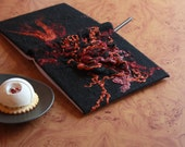 Fantasy wedding guestbook - Black red journal - Gothic diary