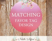 Matching Favor Tags - 2 inches - Pick your invitation and matching favor tags