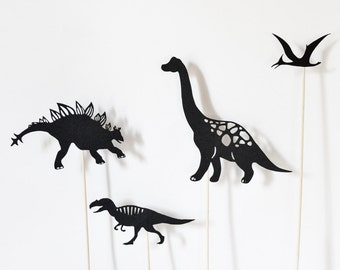 Dinosaurs of Jurassic & Cretaceous Periods: Shadow Puppet Set