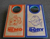 Kids cornhole boards, Finding Nemo, Finding Dory