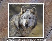 Gray Wolf Print - Gray Wolf Image - Wolf Painting - Wildlife Art Print - Southwestern Wildlife Art - Animal Prints - Wolf Print