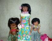 Vintage Hawaiian Doll Lot Holoku Forsum Celluloid