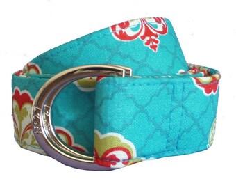 Cloth Belt/ Fabric Belt/Woman's D-Ring Belt/ Colorful Belt/ Canvas Belt/ Preppy Belt/ French Tea Fabric D-Ring Belt